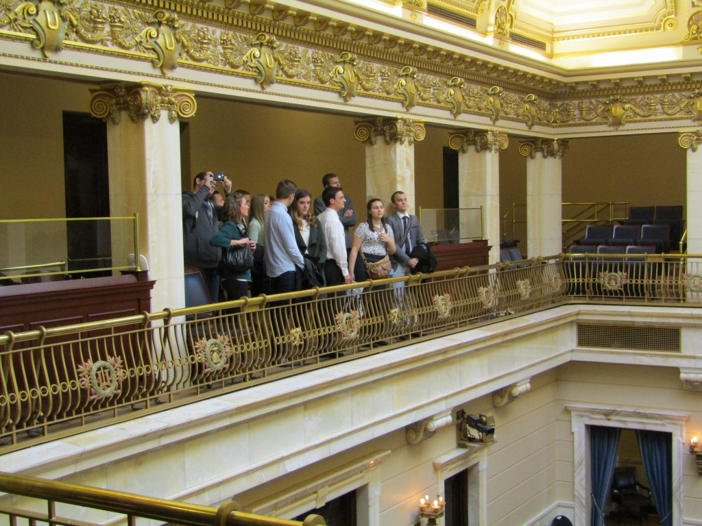 BYU students touring the Utah Capitol. The Salt Lake Chapter of BYU PAS hosted a day at the Capitol complete with speed networking.